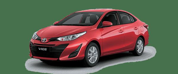 Hình ảnh xe Toyota Vios màu đỏ