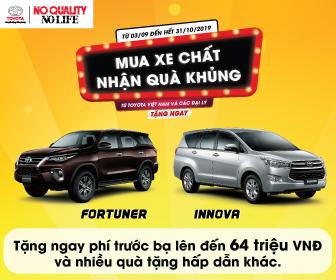 Chương trình khuyến mãi Toyota Fortuner và Innova tháng 10