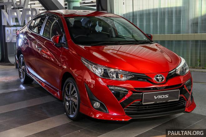 Hình ảnh xe Toyota Vios 2019 ra mắt tại Malaysia
