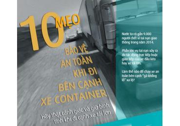 Kỹ năng lái xe an toàn bên cạnh xe Container, xe tải nặng