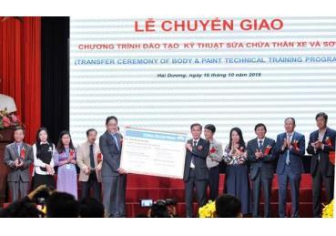 Toyota tài trợ nâng cao chất lượng tay nghề từ trường học