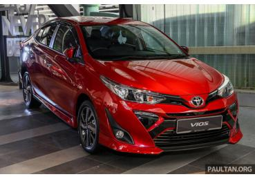 Toyota Vios 2019 ra mắt Malaysia, giá từ 18.700 USD